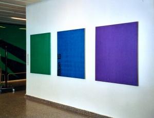 konkrete Malerei mit reinen, ungemischten Farben