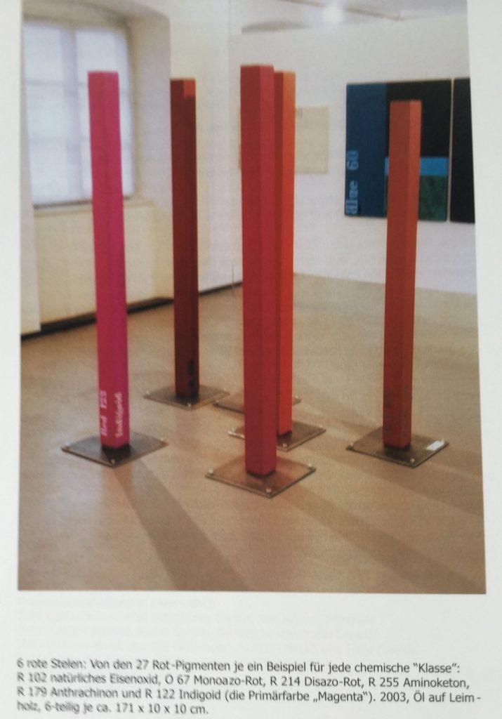 Thomas P. Kausel und 6 rote Stelen
