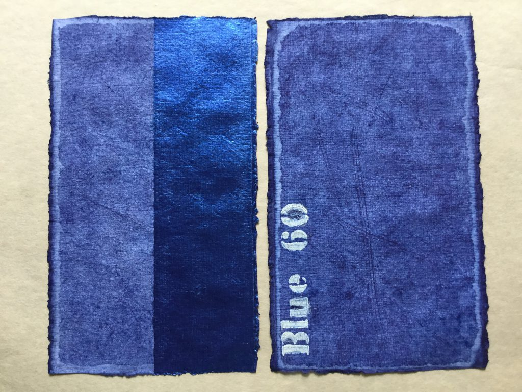 Farbfelder in Blau
