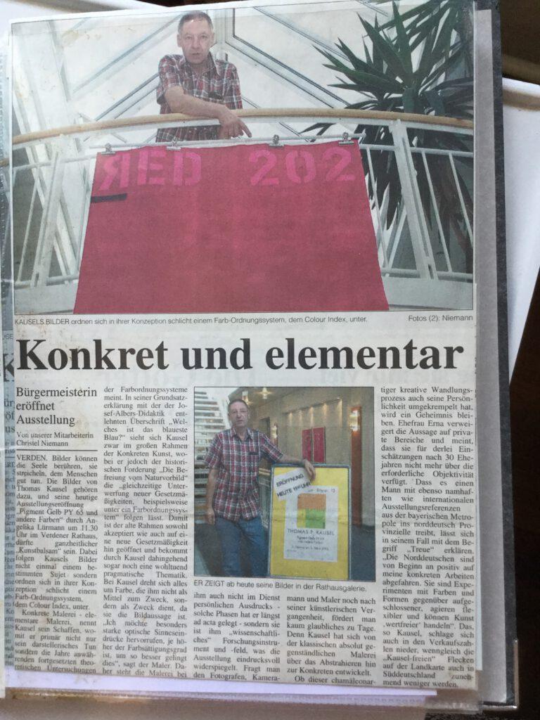 konkrete Malerei im Rathaus Verden